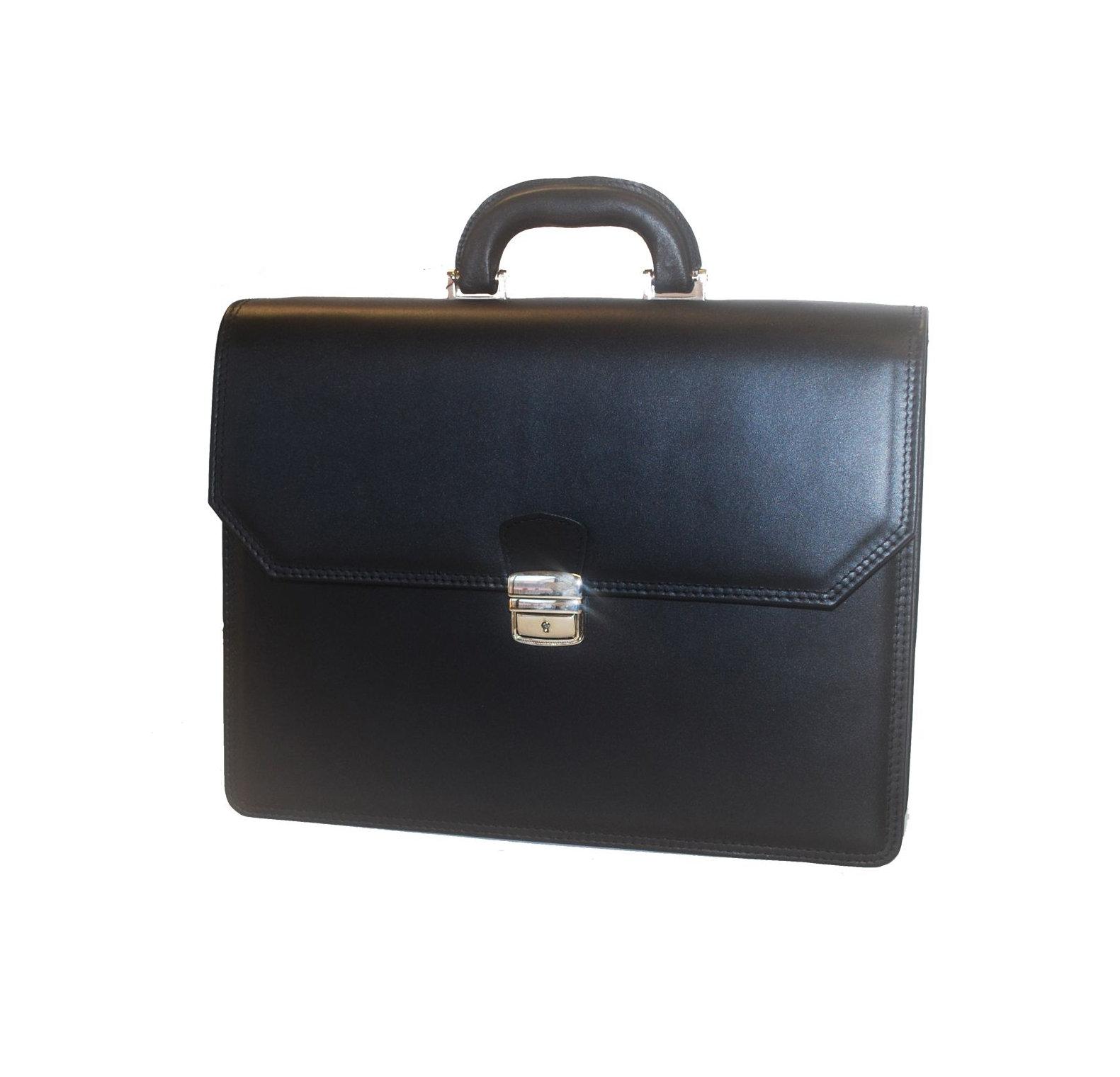 6c72fbaa7c Luxusná aktovka z pravej hovädzej kože v čiernej farbe
