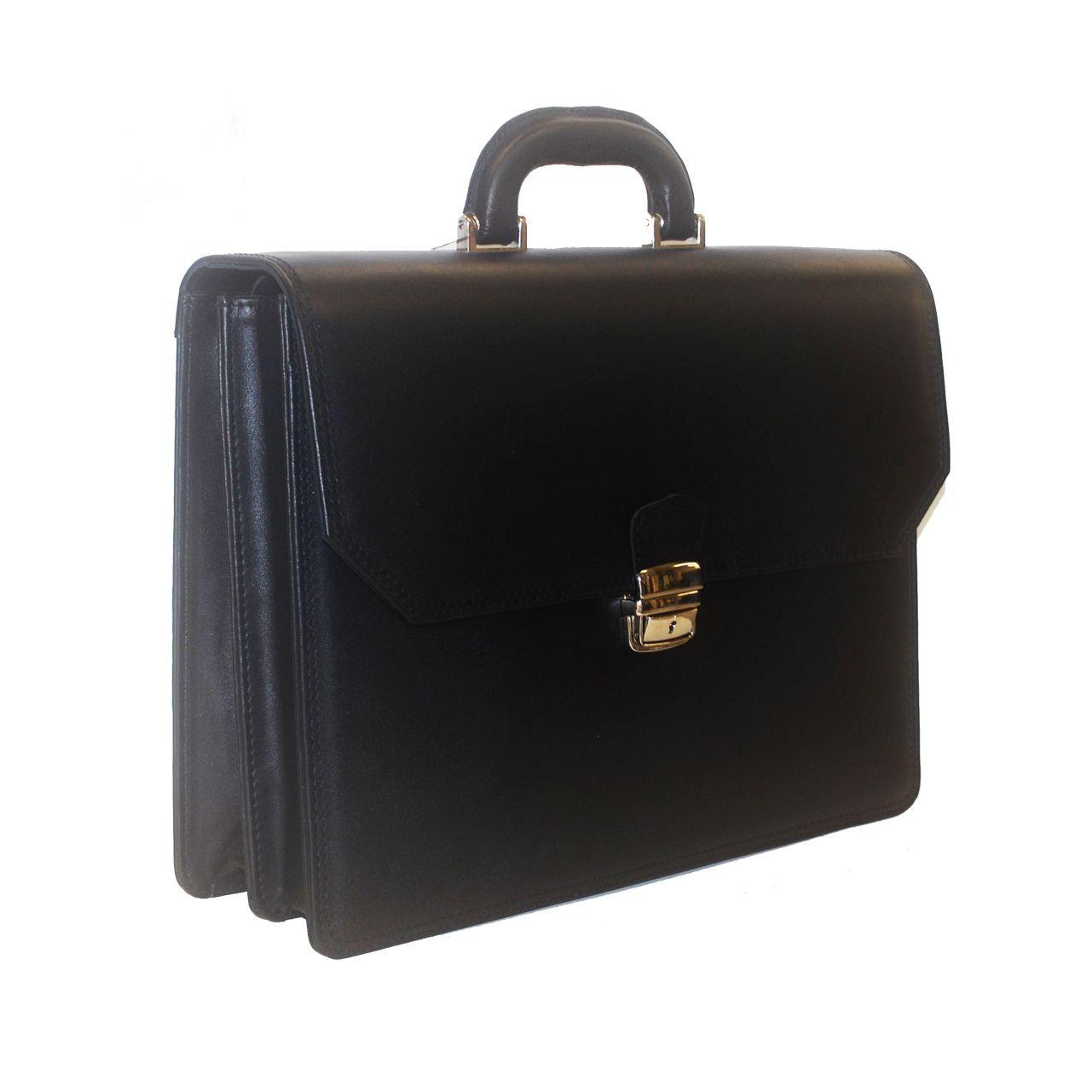 ec9ec92fda Luxusná aktovka z pravej hovädzej kože v čiernej farbe