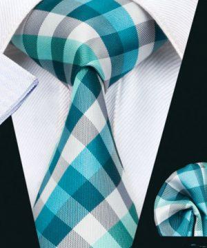 Elegantný kravatový set - kravata + manžety + vreckovka, vzor 2
