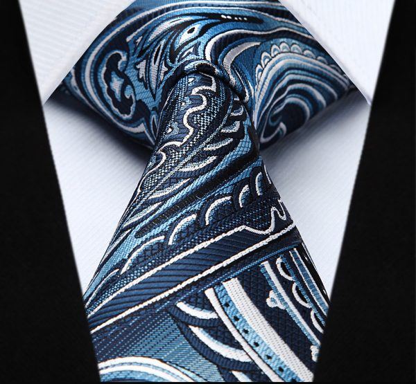 Pánska kravatová sada - kravata + vreckovka, č.2