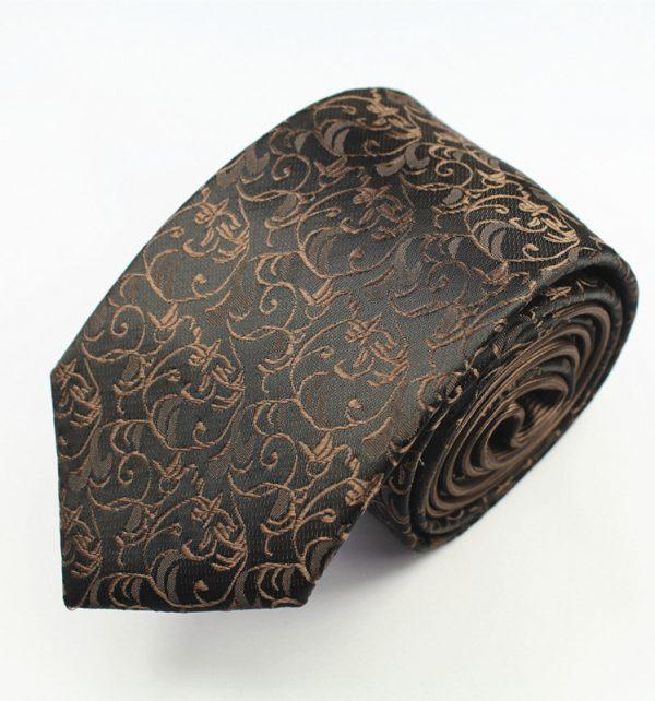 Pánska spoločenská kravata v medeno-hnedom prevedení