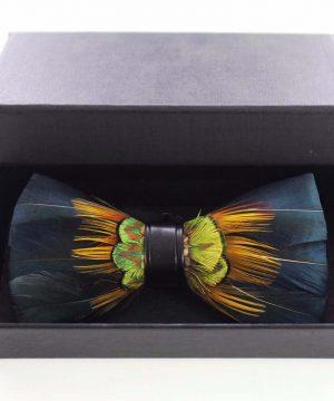 Luxusný pánsky motýlik z pierok, viacfarebný