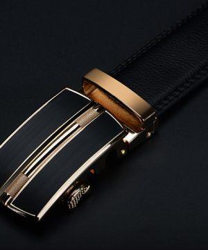 Pánsky kožený opasok z pravej kože - model 22