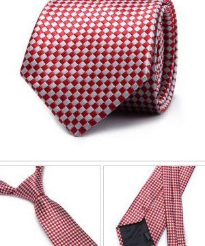 Kvalitná pánska kravata v červenej farbe so vzorom