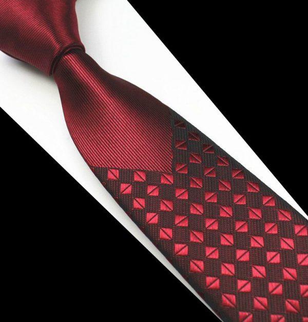 Luxusná pánska kravata v červeno farbe - kávové zrnká