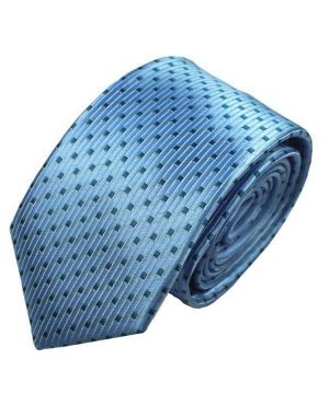 Decentná pánska kravata v svetlo-modrej farbe so vzorom