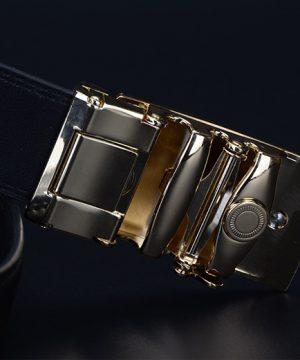 Kožený pánsky opasok z pravej kože - model 27