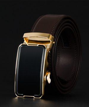 Pánsky kožený opasok z pravej kože - model 14