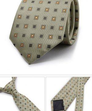 Kvalitná pánska kravata so vzorom v sivo-pomarančovej farbe