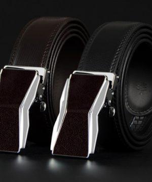 Luxusný pánsky opasok z pravej hovädzej kože - model 06