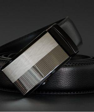 Pánsky kožený opasok z pravej kože - model 17