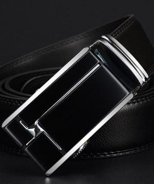 Kožený pánsky opasok z pravej kože - model 12