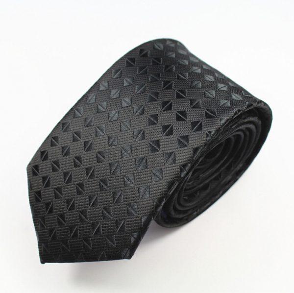 Pánska spoločenská kravata v čiernom prevedení - kávové zrnká
