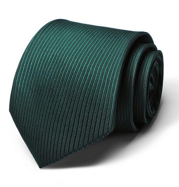 Kvalitná pánska kravata v zelenej farbe s pásikmi