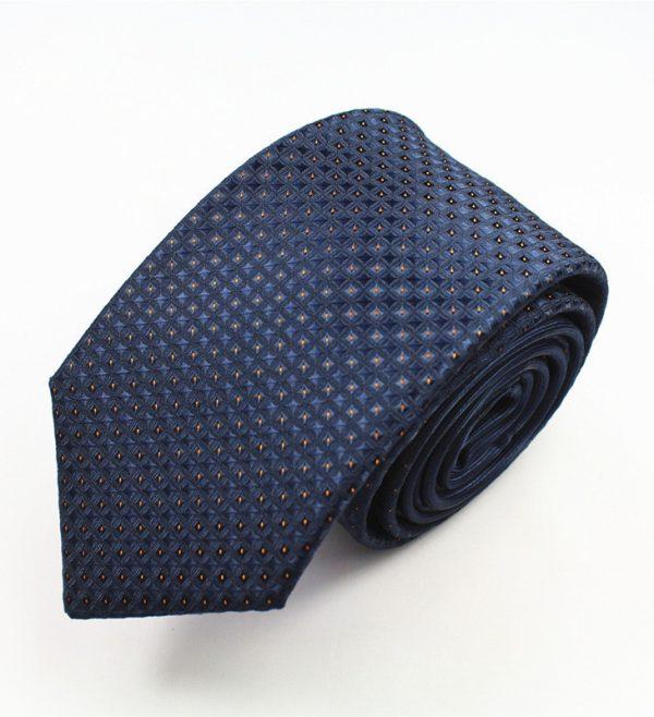 Pánska spoločenská kravata v tmavo modrom prevedení