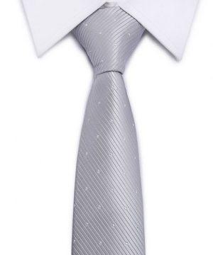 Kvalitná pánska kravata v strieborno-sivej farbe so vzorom