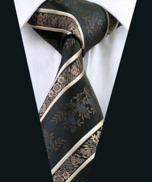 Pánska hodvábna kravata s luxusným kvetinovým vzorom