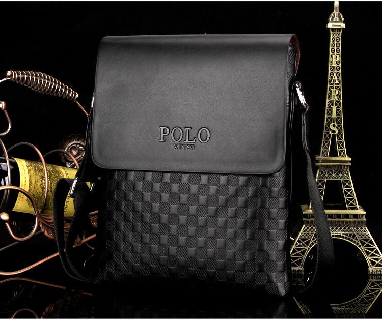 2293c94a76 Kožená luxusná taška cez plece POLO v čiernej farbe. Kožená ...