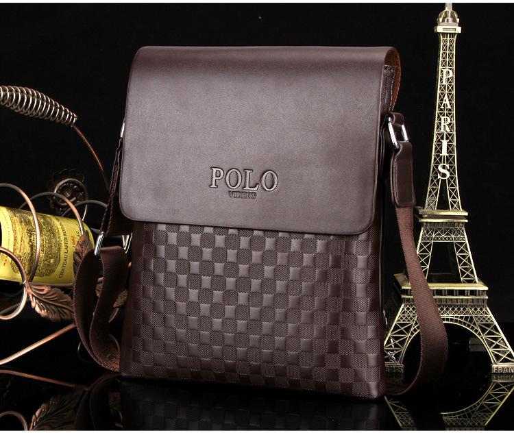 25e7691636 Kožená luxusná taška cez plece POLO v hnedej farbe. Kožená ...