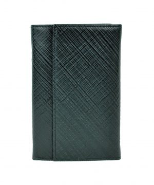 Kožená-peňaženka-s-mriežkovaným-dekorom-č.8559-1-v-čiernej-farbe-2