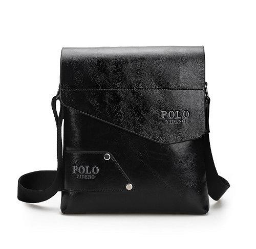 Kožená taška POLO cez plece v čiernej farbe (2) 2ab244df3d1