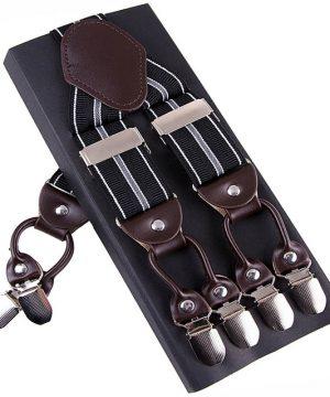 Kožené-pánske-traky-s-elastickým-pásom-s-dekorom-pásov