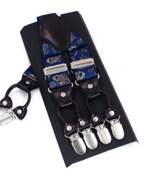 Kožené-pánske-traky-s-elastickým-pásom-s-dekorom-v-modrej-farbe1
