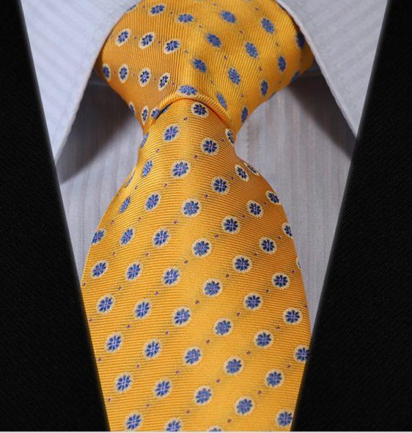 Luxusná pánska kravatová sada - kravata + vreckovka, vzor 11