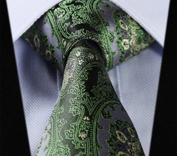 Luxusná pánska kravatová sada - kravata + vreckovka, vzor 13