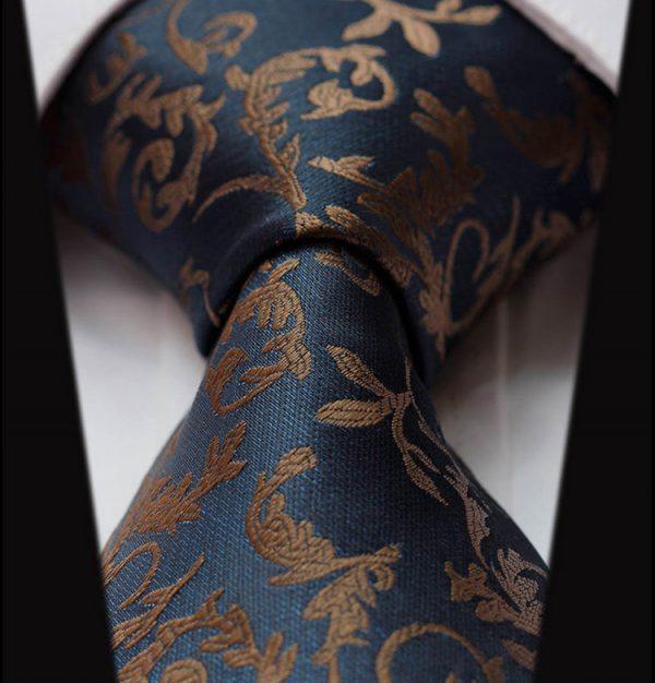 Luxusná pánska kravatová sada - kravata + vreckovka, vzor 15