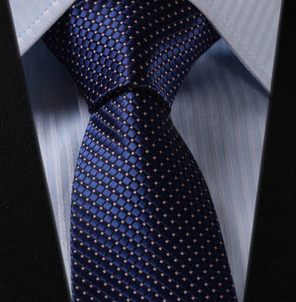 Luxusná pánska kravatová sada - kravata + vreckovka, vzor 18