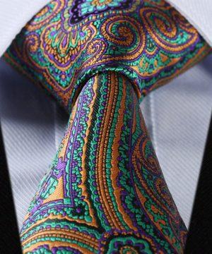 Luxusná pánska kravatová sada - kravata + vreckovka, vzor 02