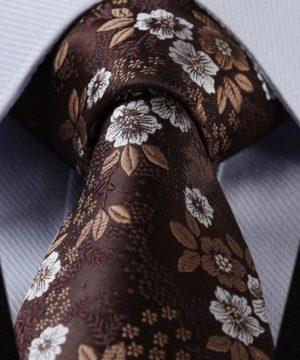 Luxusná pánska kravatová sada - kravata + vreckovka, vzor 03