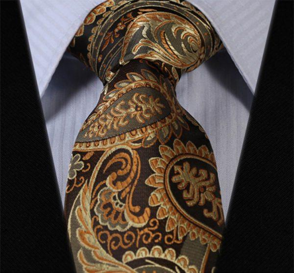 Luxusná pánska kravatová sada - kravata + vreckovka, vzor 05