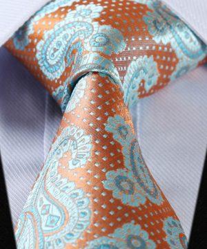 Luxusná pánska kravatová sada - kravata + vreckovka, vzor 07