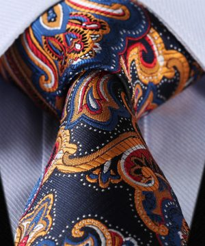 Luxusná pánska kravatová sada - kravata + vreckovka, vzor 08
