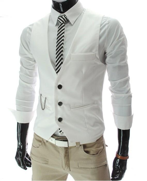 9742f895d Luxusná pánska vesta ku obleku v bielej farbe