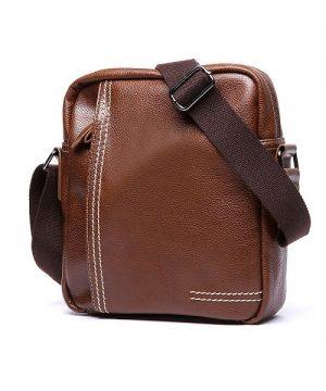 Pánska štýlová kožená taška cez plece