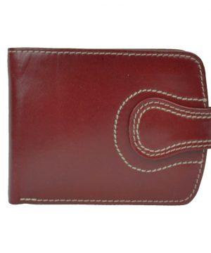 Pánska elegantná kožená peňaženka č.8467 v červenej farbe (1)