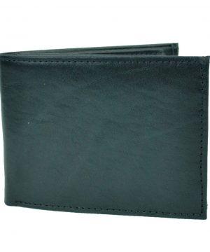 Pánska elegantná peňaženka z pravej kože č.8552 v čiernej farbe (3)