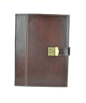 Pánska kožená spisovka so zámkom na kľúč č.8344 v hnedej farbe (2)