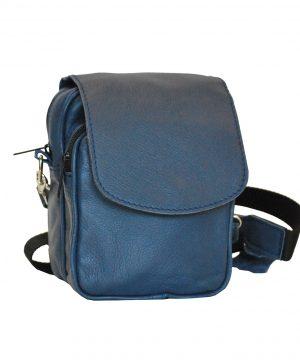 Pánska luxusná kožená etua v modrej farbe č.7979