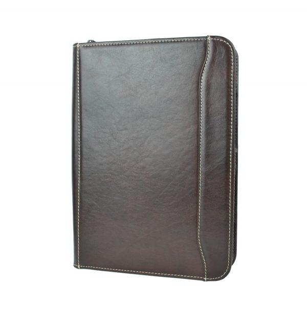 Pánska luxusná kožená spisovka č.7987 v hnedej farbe (2)