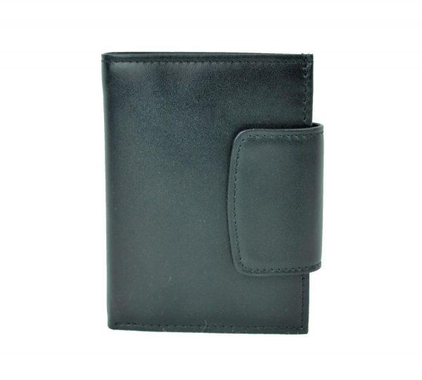 Pánska moderná kožená peňaženka č.8211 v čiernej farbe (3)