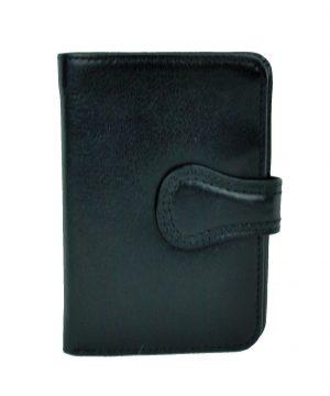 Pánska moderná kožená peňaženka č.8462 v čiernej farbe. Kvalitné spracovaniea talianska koža.Ideálna veľkosť do vrecka a značková kvalita pre náročných (4)
