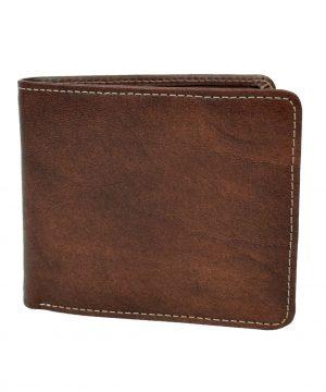 Pánska peňaženka z prírodnej kože č.7992 v tmavo hnedej farbe (2)