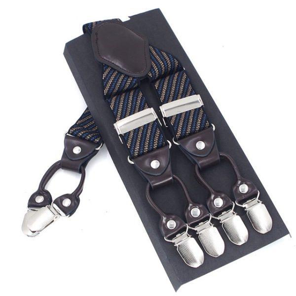 Pánske-kožené-traky-v-modrom-pruhovanom-prevedení-s-elastickým-pásom