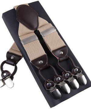 Pánske-kožené-traky-s-elastickým-pásom-v-bežovej-farbe1