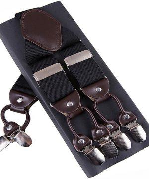 Pánske-kožené-traky-s-elastickým-pásom-v-čiernej-farbe1