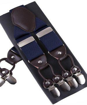 Pánske-kožené-traky-s-elastickým-pásom-v-modrej-farbe1